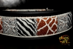 dogs-art Safari Martingale Leather Collar - black/brown/safari black