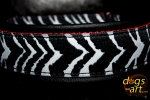 dogs-art Zebra Martingale Leather Collar - black/red/zebra black