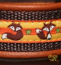 dogs-art Fox Martingale Leather Collar - brown/brown/fox orange