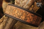Natural Cork Dog Collar by dogs-art Hardware in rose gold