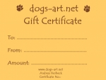 dogs-art Gift Certificate $15