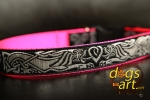 dogs-art Celtic Dragon Easy Release Buckle Collar - hot pink/celtic dragon