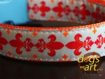 dogs-art Zinga Easy Release Buckle Collar - orange/zinga